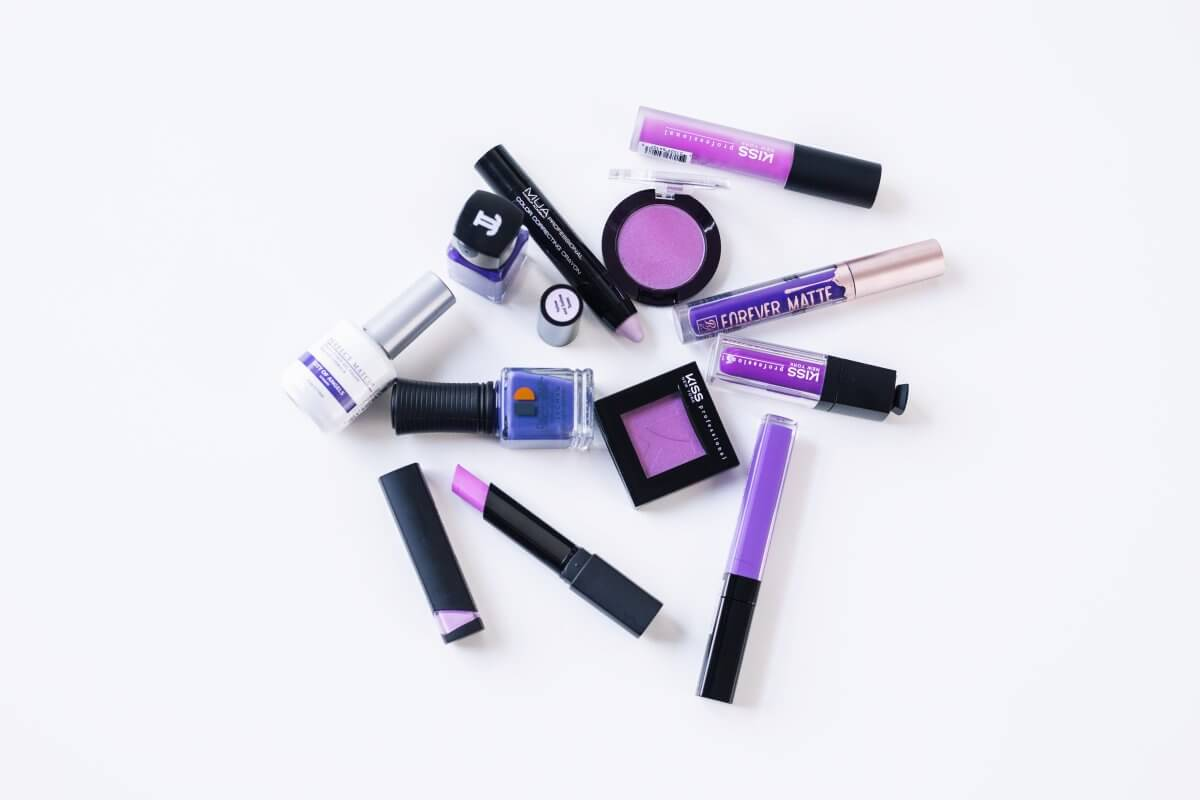 Pantone Ultra Violet Color of the Year Makeup Flat Lay