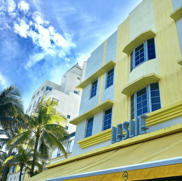 Leslie Hotel Yellow Building