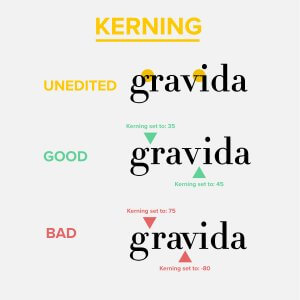 Kerning Graphic Design Example