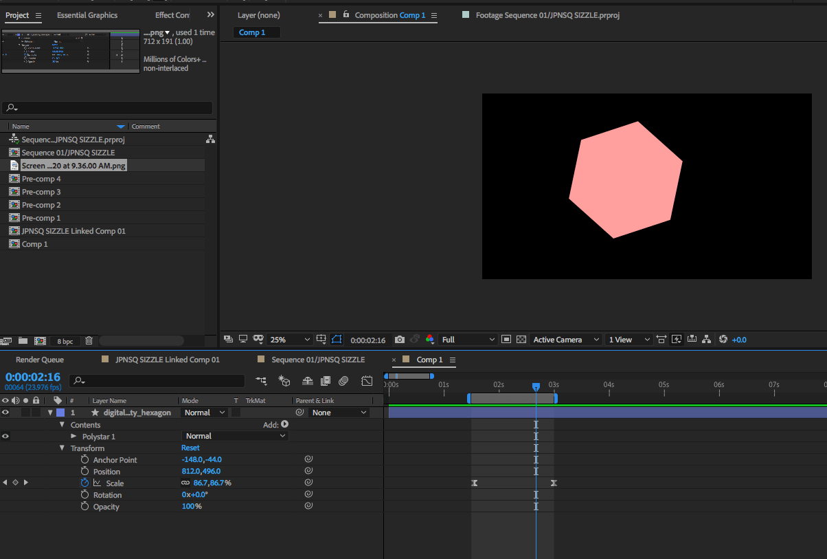 Motion Graphic Example