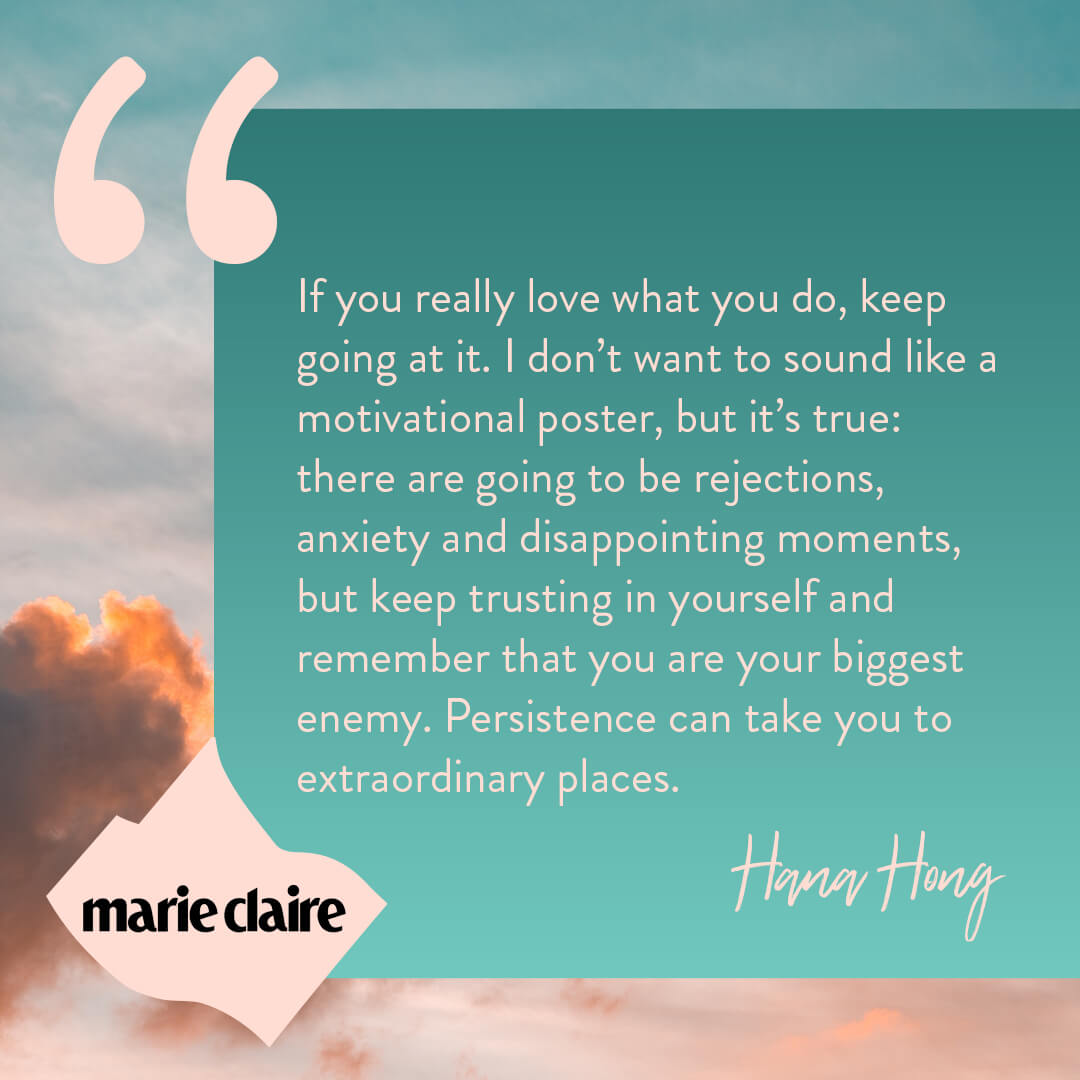 Hana Hong from Marie Claire quote